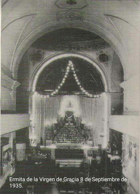 Interior de la ermita Virgen de Gracia. 1935
