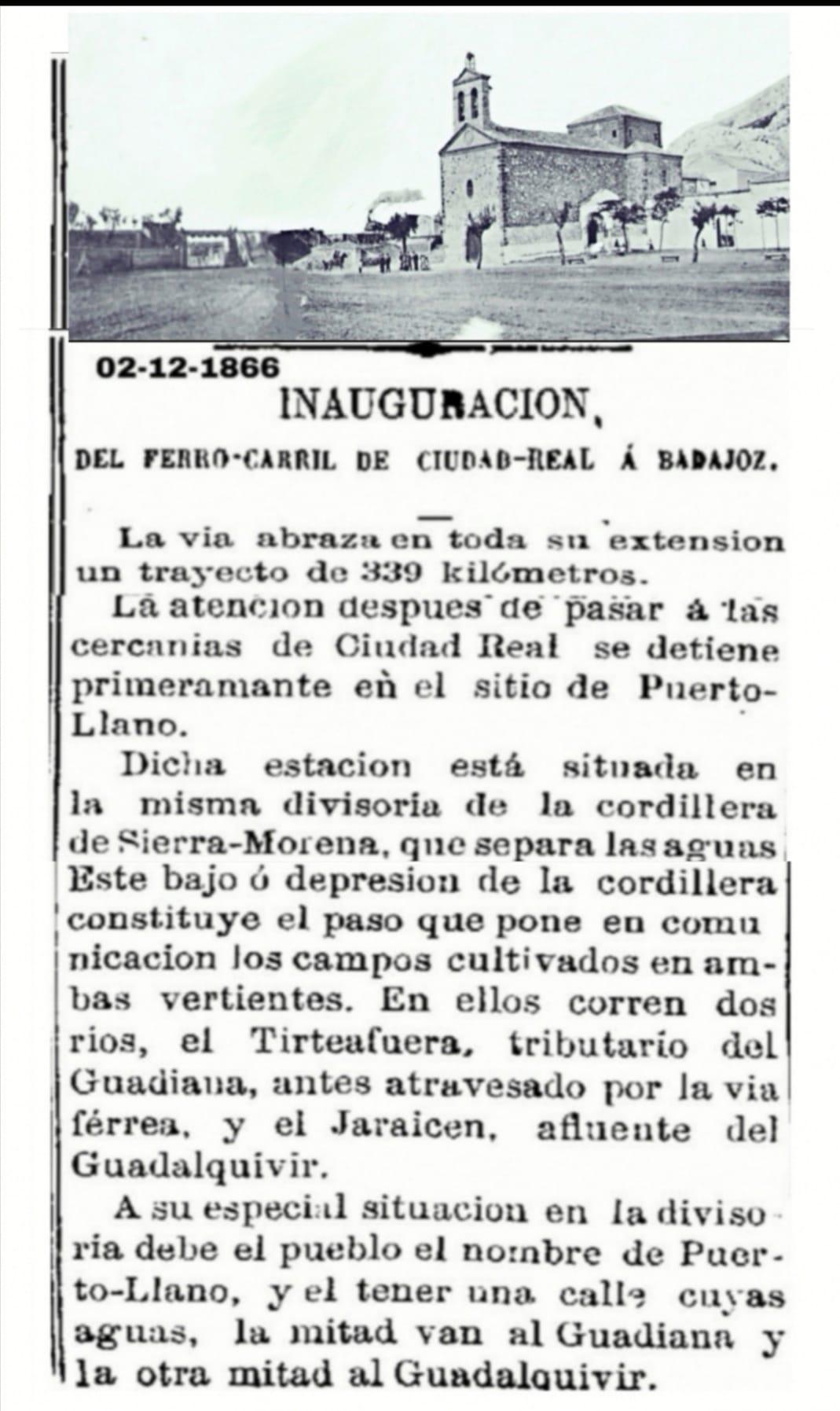Primera parada del ferrocarril Ciudad Real-Badajoz en Puertollano.