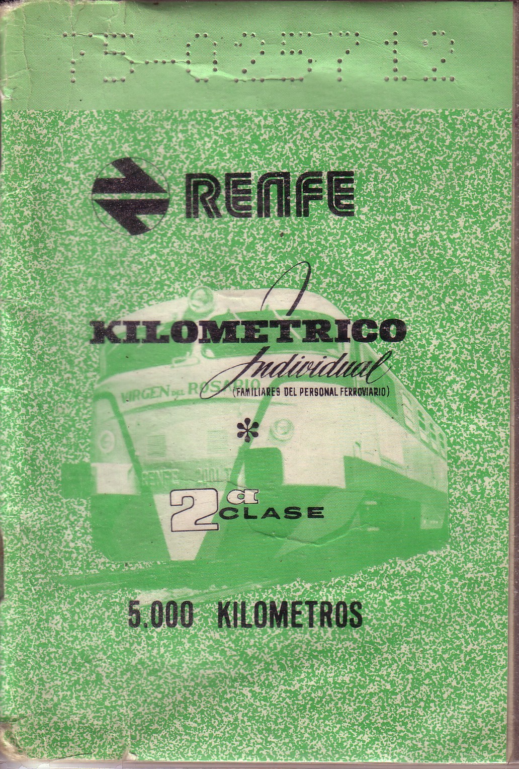 El Kilométrico que usaban los familiares delos ferroviarios