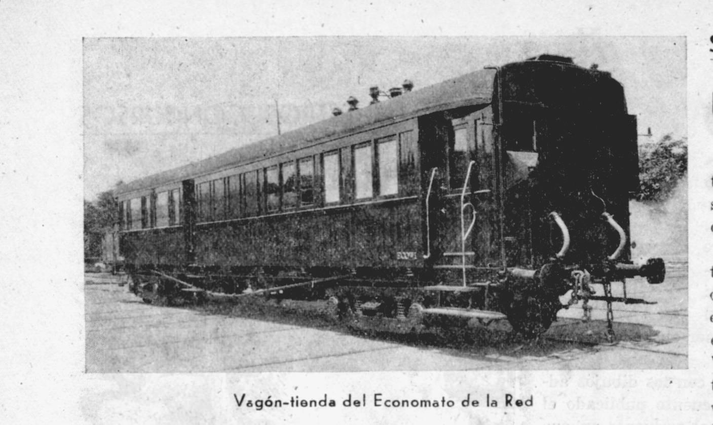 Coche-tienda del economato de Renfe. Venia una vez al mes a Puertollano y su uso era solo para ferroviarios
