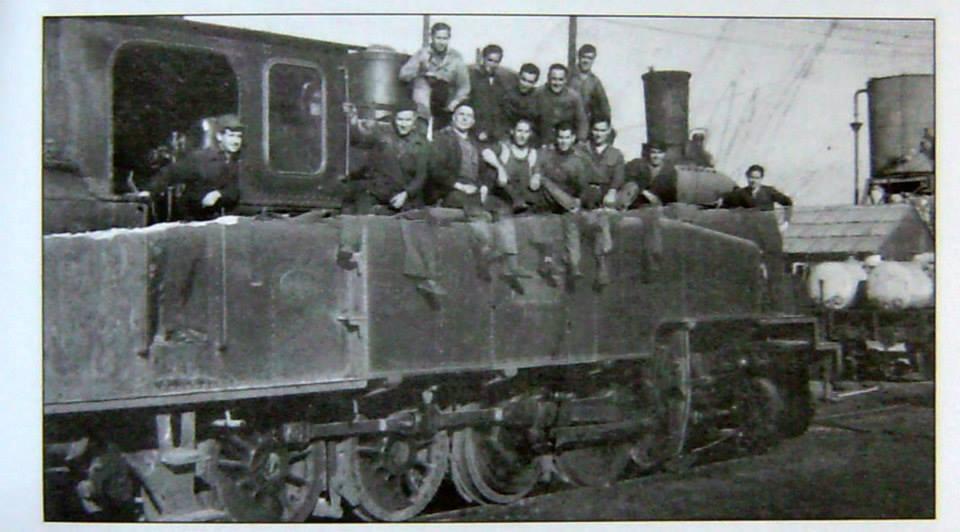 Ferroviarios subidos en la Gorda