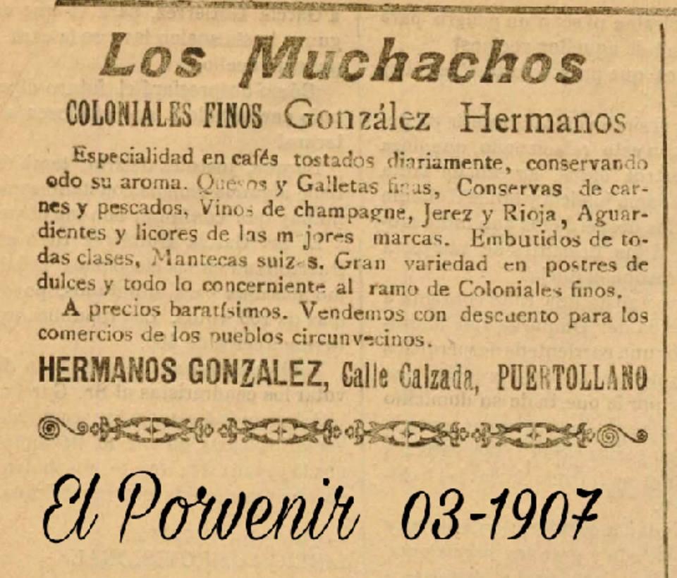 Anuncio de los Muchachos 1907