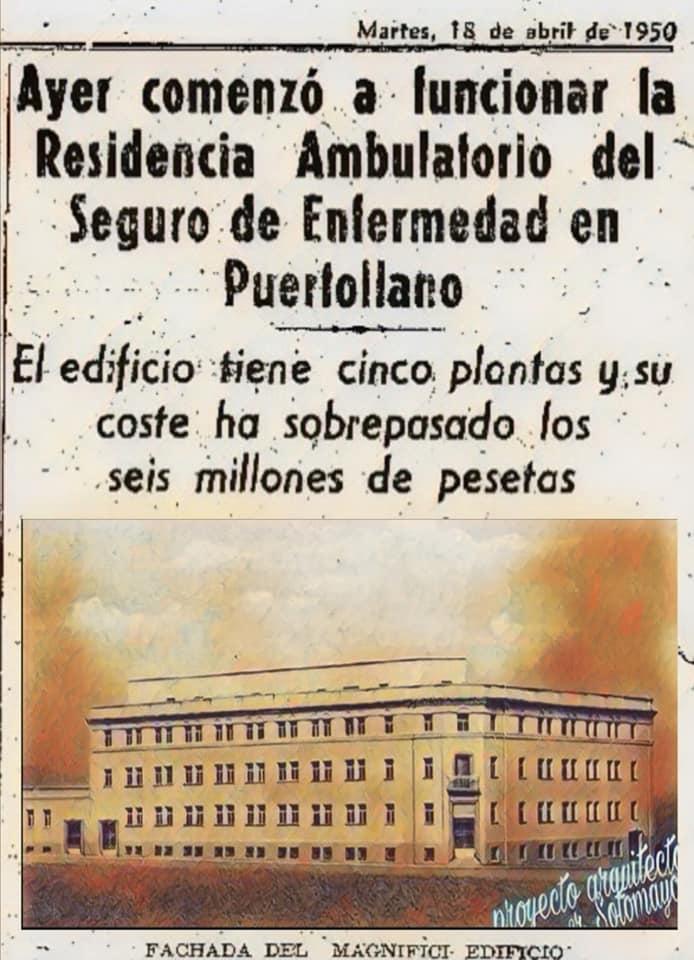 El ambulatorio en 1950. Archivo Bibiana Bibi