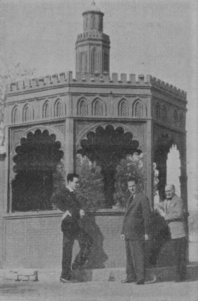 La Torre de Oro. Quiosco de verano del Bar Benedicto. Años 50