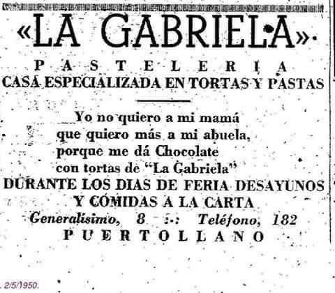 Anuncio de La Gabriela