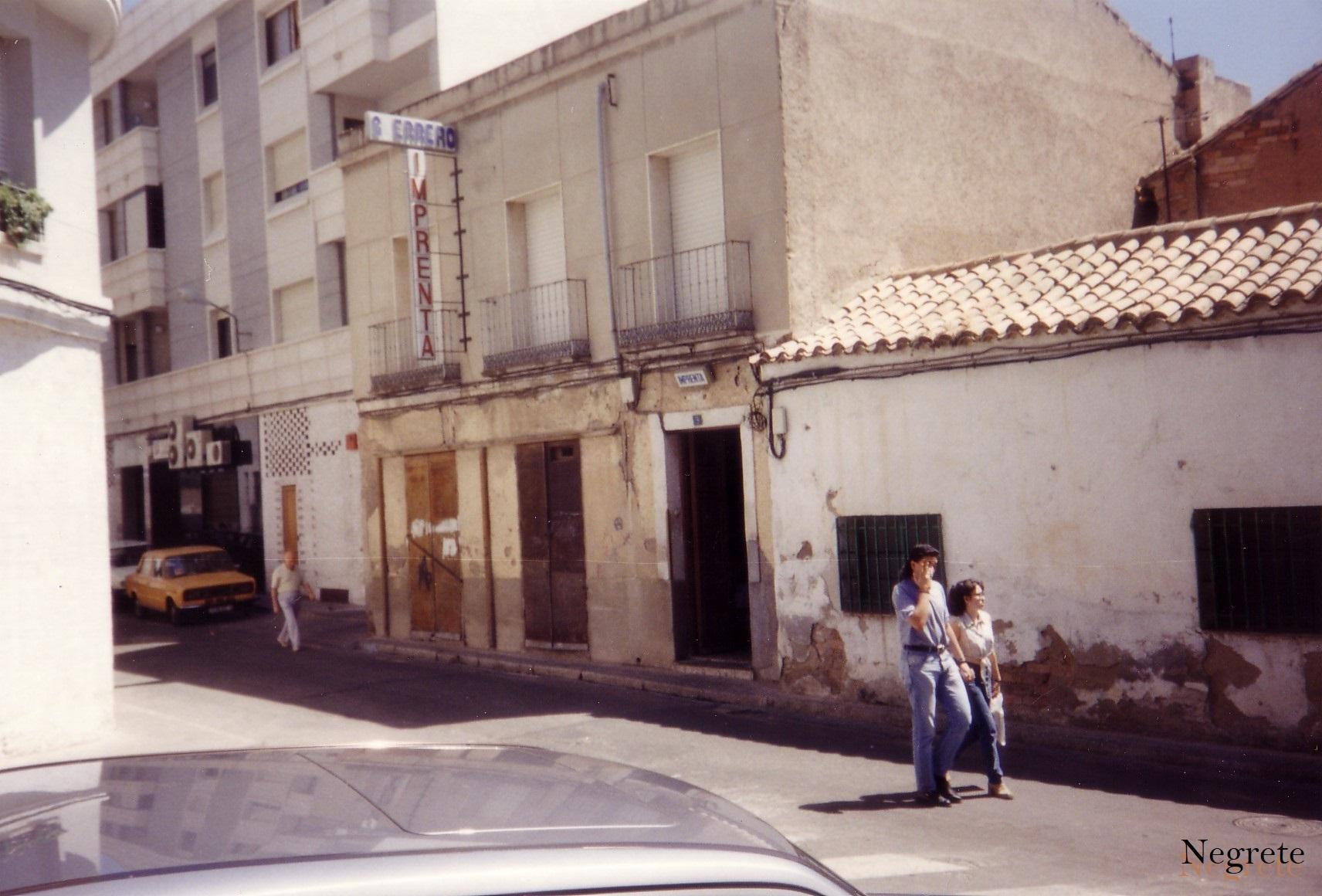 Imprenta Guerrero Fotografía F. Negrete 1990