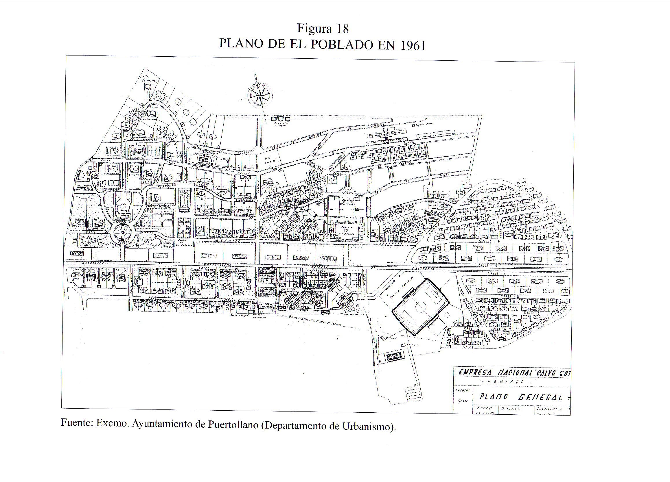 Plano de El Poblado. 1961