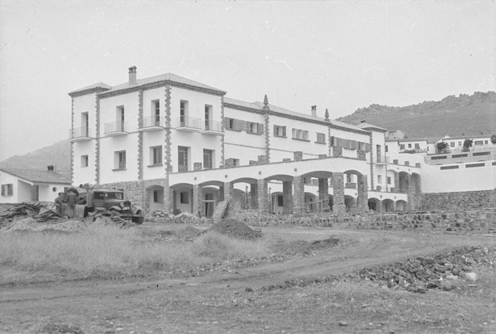 Construcción del Poblado 1952 Fotografía Wunderlich Otto