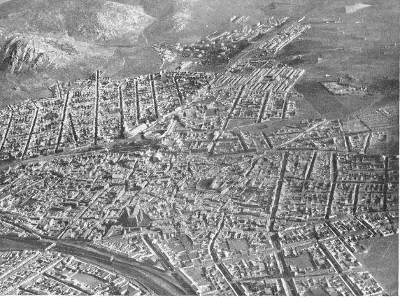 Vista aérea de Puertollano. 1954
