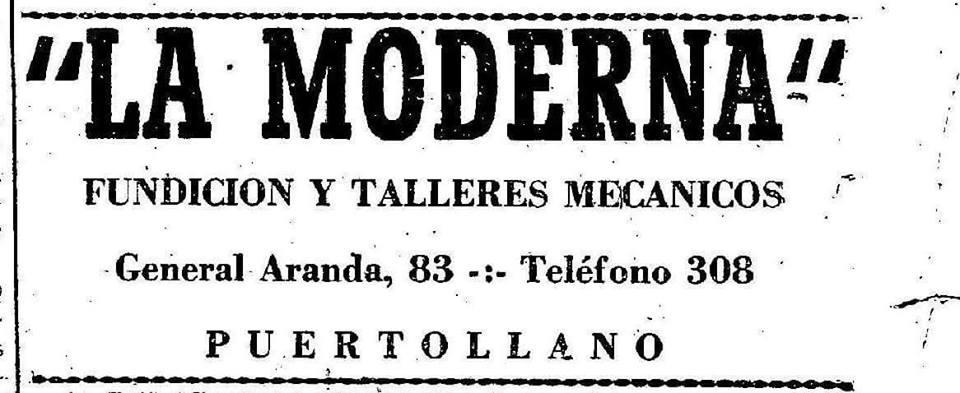Fundición La Moderna (en la actual calle Ancha)
