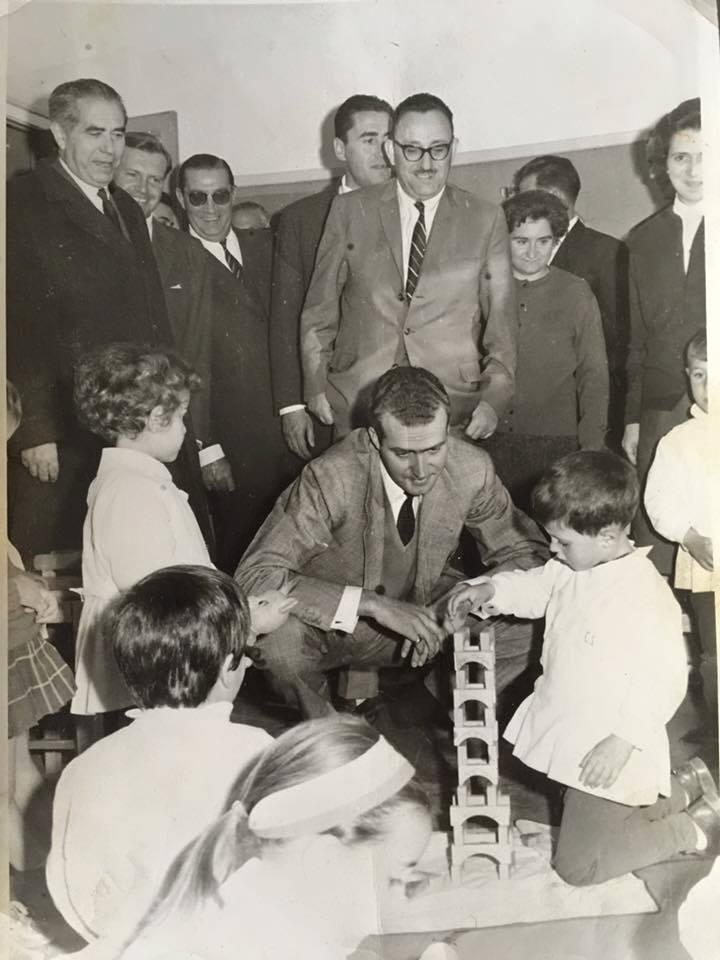 El Príncipe Juan Carlos en el colegio de Calvo Sotelo 1964